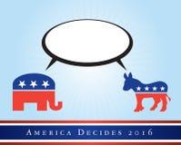Amerika 2016 verkiezingen Stock Afbeeldingen