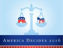 Amerika 2016 verkiezingen Royalty-vrije Stock Afbeelding