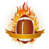 Amerika voetbal met vlammen vector illustratie