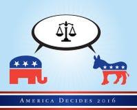 Amerika 2016 Wahlen Stockbild