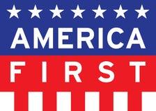 Amerika zuerst Stockbild