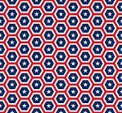 Amerikaan speelt hexagon naadloos patroon mee Royalty-vrije Stock Afbeelding