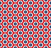 Amerikaan speelt hexagon naadloos patroon mee Stock Afbeelding