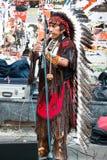 Amerikaan in traditioneel kostuum stock afbeeldingen