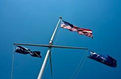 Amerikaan, Zuid-Carolina, en de Vlaggen van Charleston Royalty-vrije Stock Afbeelding