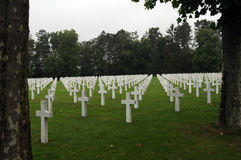 Amerikaans Begraafplaats Oise-Aisne en Gedenkteken Royalty-vrije Stock Fotografie