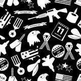 Amerikaans de vierings naadloos patroon eps10 van de veteranendag royalty-vrije illustratie