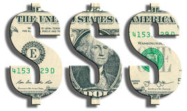 Amerikaans Dollarsymbool Amerikaanse dollartextuur Stock Afbeelding