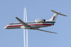 Amerikaans Eagle Airlines American Airlines Embraer erj-140 vliegtuigen Stock Fotografie