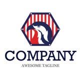 Amerikaans Eagle Logo Vector Design Royalty-vrije Stock Afbeeldingen