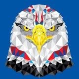 Amerikaans Eagle met geometrisch patroon Royalty-vrije Stock Afbeelding