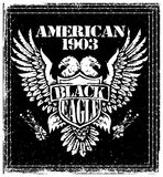 Amerikaans Eagle Vector Graphic Design Royalty-vrije Stock Afbeelding