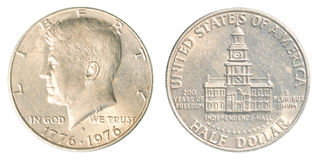 Amerikaans half dollarmuntstuk Stock Foto
