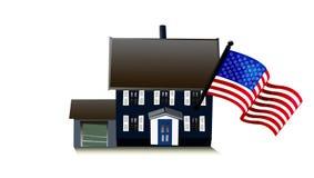 Amerikaans huis Royalty-vrije Stock Fotografie
