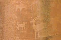 Amerikaans-inheemse Petroglyp 1 Stock Foto's