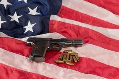 Amerikaans kanon Royalty-vrije Stock Afbeeldingen