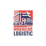 Amerikaans Logistisch Bedrijf Logotype Stock Afbeeldingen