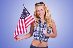 Amerikaans meisje royalty-vrije stock afbeelding