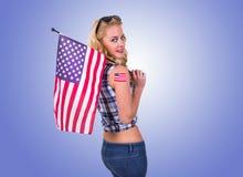 Amerikaans meisje Stock Foto's