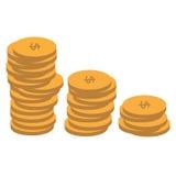 Amerikaans muntstukken mooi patroon Stock Foto's