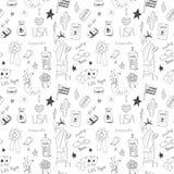 Amerikaans naadloos patroon stock illustratie