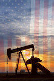Amerikaans Olieportret Stock Fotografie