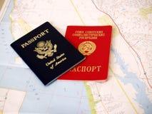 Amerikaans paspoort Royalty-vrije Stock Foto