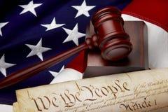 Amerikaans rechtvaardigheidsstilleven Stock Fotografie