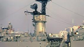Amerikaans slagschip Hong Kong stock video