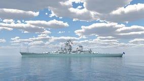 Amerikaans slagschip van Wereldoorlog 2 Stock Afbeeldingen