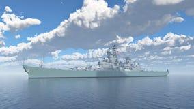 Amerikaans slagschip van Wereldoorlog II Stock Foto