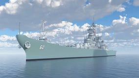 Amerikaans slagschip van Wereldoorlog II Royalty-vrije Stock Afbeeldingen