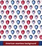 Amerikaans stijl naadloos patroon Het kan voor prestaties van het ontwerpwerk noodzakelijk zijn Royalty-vrije Stock Foto