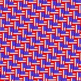 Amerikaans vlagpatroon Herhaal achtergrond stock illustratie