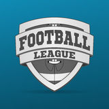 Amerikaans Voetbal grafisch Etiket stock fotografie