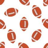 Amerikaans voetbal naadloos patroon Vector vector illustratie