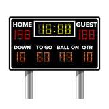 Amerikaans voetbalscorebord De Score van het sportspel Digitale LEIDENE Punten Vector illustratie royalty-vrije illustratie