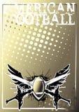 Amerikaanse achtergrond 2 van de voetbal gouden affiche royalty-vrije illustratie