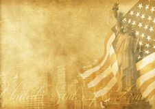 Amerikaanse achtergrond Royalty-vrije Stock Afbeeldingen