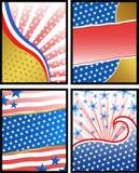 Amerikaanse achtergronden Stock Foto