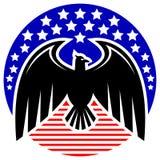 Amerikaanse adelaar stock illustratie