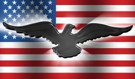 Amerikaanse Adelaar 3 van de Vlag Stock Afbeeldingen
