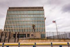 Amerikaanse Ambassade in Cuba royalty-vrije stock foto