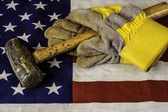 Amerikaanse arbeider stock afbeeldingen