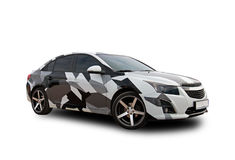 Amerikaanse auto camouflage Witte achtergrond Royalty-vrije Stock Afbeelding