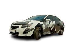Amerikaanse auto camouflage Witte achtergrond Stock Foto