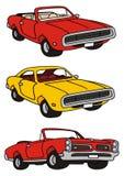 Amerikaanse auto's stock illustratie