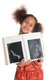 Amerikaanse Aziatische zwarte het kindultrasone klank van Afro Royalty-vrije Stock Fotografie