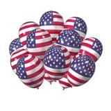 Amerikaanse ballons voor de Dag van de Onafhankelijkheid Stock Afbeeldingen