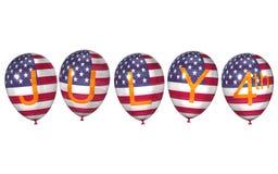Amerikaanse ballons voor de Dag van de Onafhankelijkheid Royalty-vrije Stock Fotografie